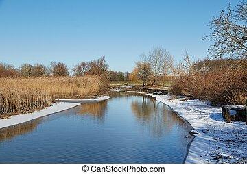 lakeside, paisagem inverno