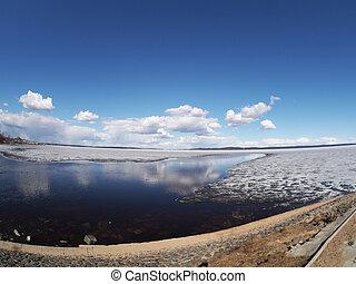 lakeside, promenade