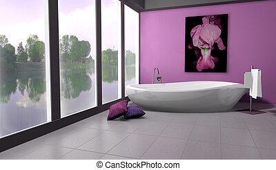 lakeside, salle bains