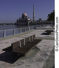 lakeside, scénique, promenade, putrajaya