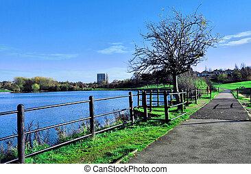 lakeside, sentier