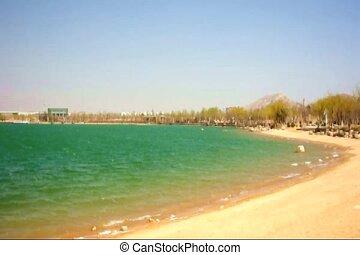 lakeside - a lakeside shot on a windy day