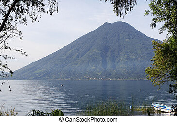 Lakeside Volcano - A volcano surrounding Lake Atitlan