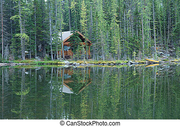 Lakeside Wilderness Cabin