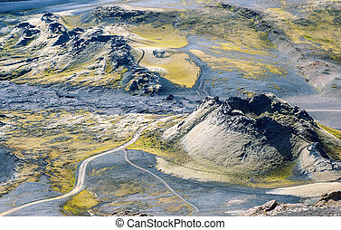 Laki - Lakagigar is a row of appox. 130 volcanic craters on...