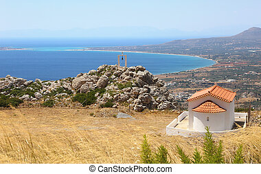 landscape of Lakonia and the Elafonisos island Peloponnese Greece
