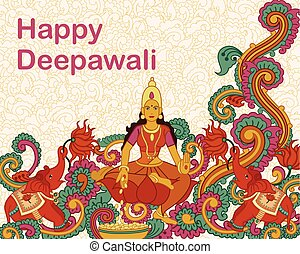 lakshmi, dea, diwali, preghiera