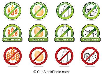 laktose, ei, gluten, frei, frei