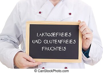 Laktosefreies und glutenfreies Fruchteis
