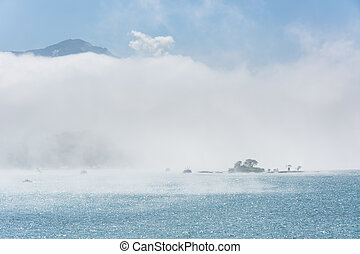 Lalu Island in the mist