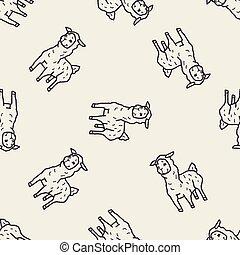 lama, doodle