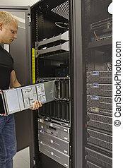 lama, installare, server