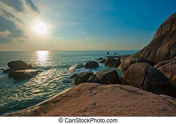 lamai, samui, koh, playa, tailandia