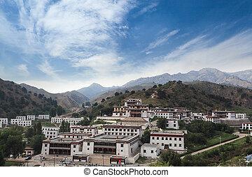 lamaism, 内部, mongolia, 寺院