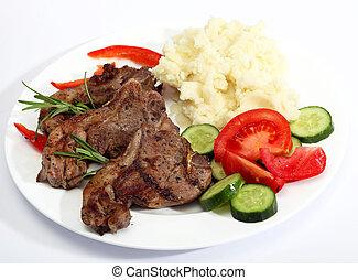 Lamb chop meal