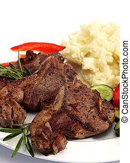 Lamb chop meal vertical
