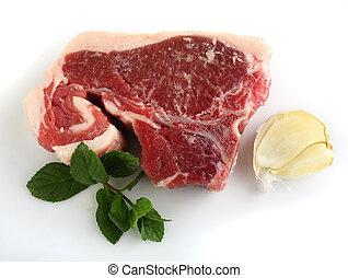 Lamb chump chop, garlic and mint
