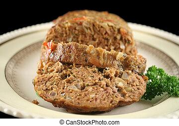 Lamb Meatloaf 4 - Freshly baked homestyle lamb meatloaf just...