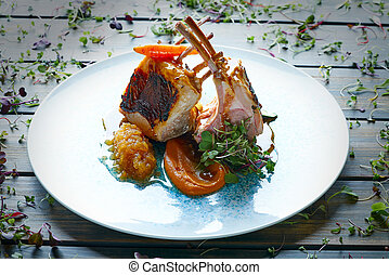 Lamb ribs with sweet potato parmentier recipe cuisine