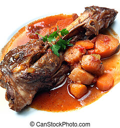 Lamb Shank Dinner - Lamb shank, slow-cooked with root...