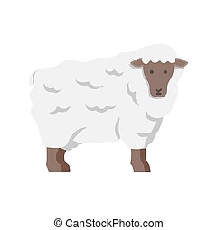 Lamb, sheep icon. Vector illustration