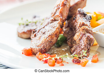 lamb steak , lamb cutlets