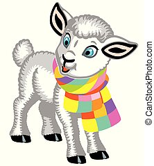 lamb wearing a scarf