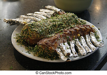 Lamb with herbal crust