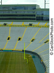 Lambeau Field Endzone and Skybox - This photograph was taken...