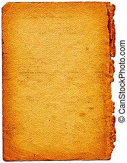 lambeaux, papier, bord, vieux, textured