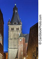 lambertus, basílica, alemania, dusseldorf, c/