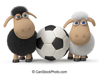 Lambs football players