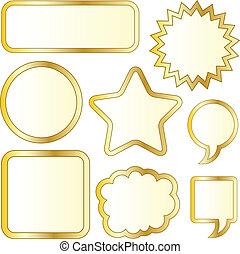 lamina, adesivi, oro, vuoto