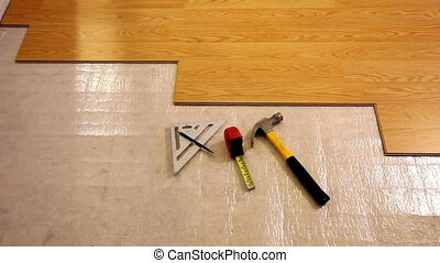 Laminate Flooring with Tools