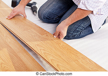 laminate, instalando flooring