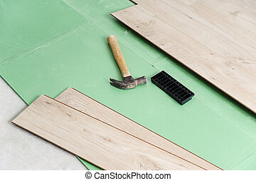 laminate, installation, flooring.