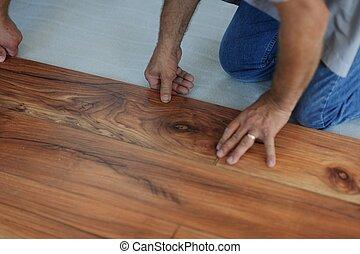 laminate, installerande golvmaterial