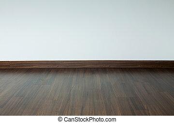 laminate, sala, chão, parede, residencial, madeira, interior, fundo, morteiro, casa branca, vazio