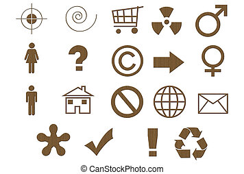 Laminated Cardboard Symbols