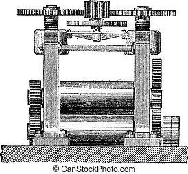 Laminating Machine, vintage engraving