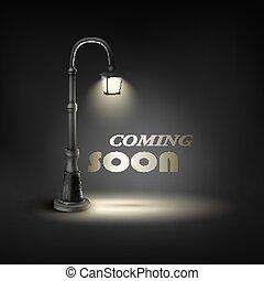 lamp., 街道, 很快, 在下面, 來