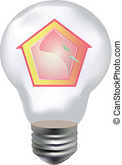 lamp and house