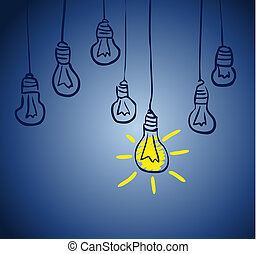 lamp., begrepp, idé, innovativ