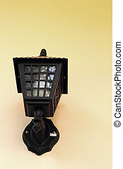 Lamp black wall - vintage style.