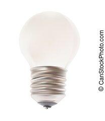 lamp., blanc, vecteur, isolé, arrière-plan.