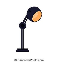 lamp bulb light office icon