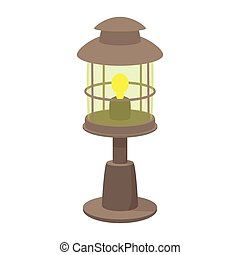 Lamp cartoon icon