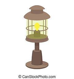 Lamp cartoon icon