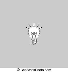 Lamp computer symbol