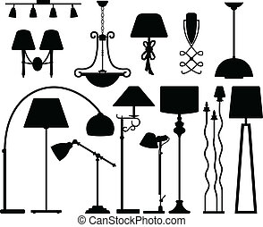 Lamp Design for Floor Ceiling Wall - A set of lamp light...